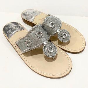 Jack Rogers S 7 navajo women's sandals silver